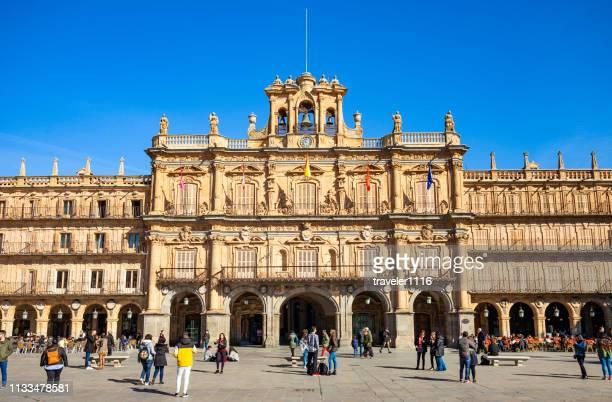 plaza mayor in salamanca, spain - salamanca stock pictures, royalty-free photos & images