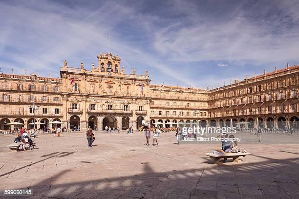 plaza mayor in salamanca, spain. - salamanca stock pictures, royalty-free photos & images