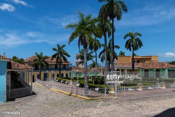 plaza mayor in trinidad - sancti spiritus provincie stockfoto's en -beelden