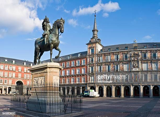 Plaza Mayor de Madrid en amanecer