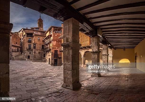 Plaza Mayor of Albarracin, Teruel, Spain