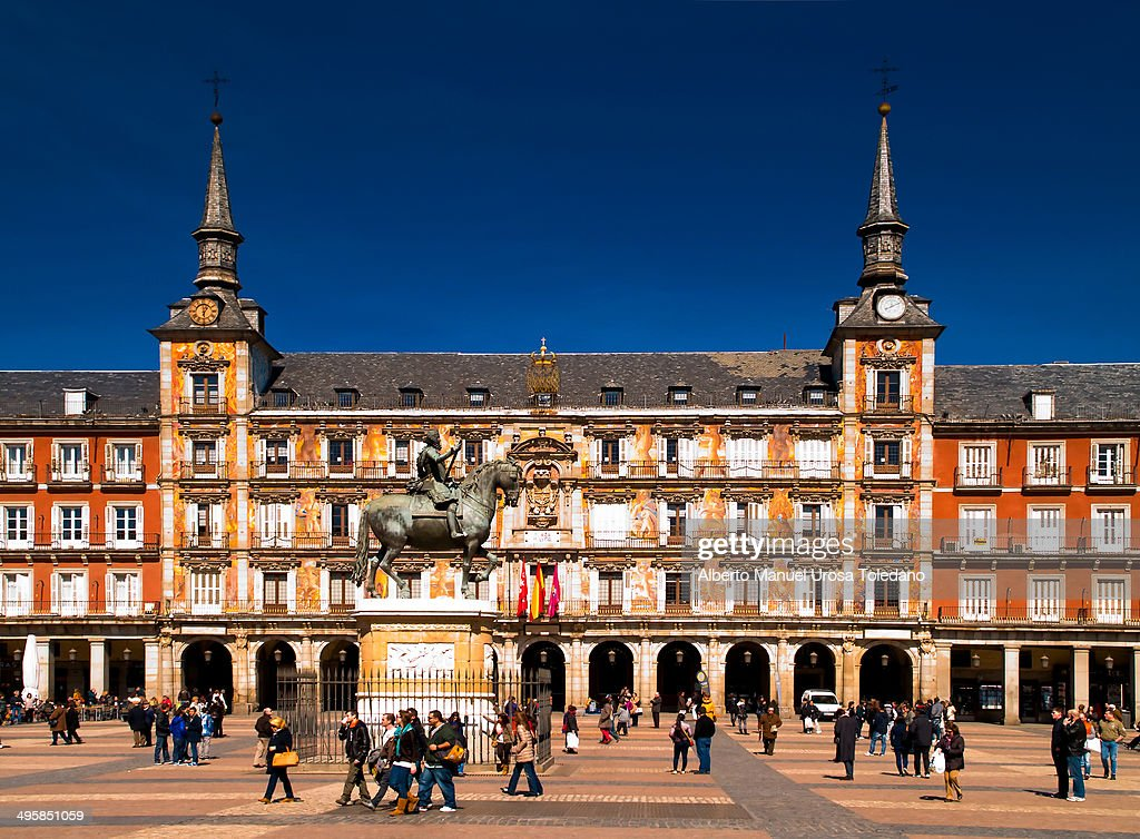 Content Plaza Mayor Of Madrid Is Located In The Heart Of The City