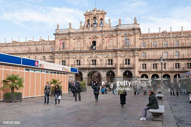 plaza mayor de salamanque, en espagne - ogphoto photos et images de collection