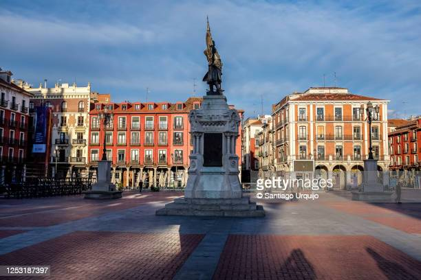plaza mayor of valladolid - valladolid spanish city stock pictures, royalty-free photos & images