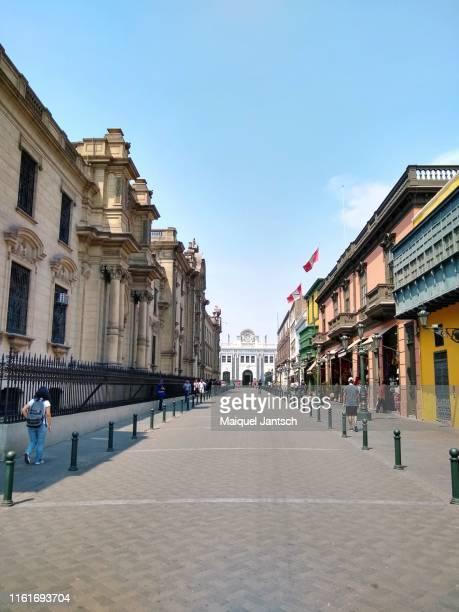 plaza mayor, plaza de armas - lima, peru. - lima stock-fotos und bilder