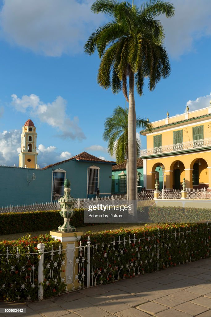 Museo Romantico.Plaza Mayor With The Museo Romantico And The Monastery Church Of San