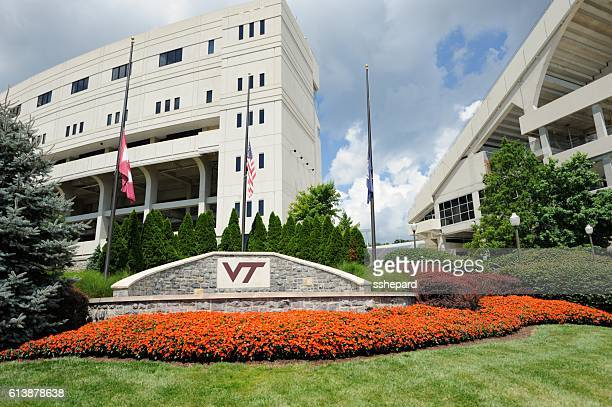 plaza near lane stadium at virginia tech - blacksburg stock pictures, royalty-free photos & images