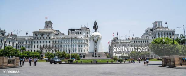 plaza san martin, lima, peru - lima animal stock pictures, royalty-free photos & images