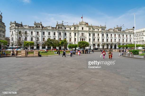 plaza san martin, lima - lima animal stock pictures, royalty-free photos & images