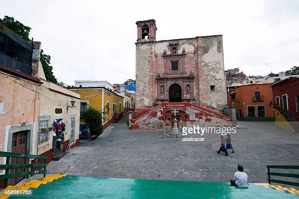 plaza san roque, guanajuato - guanajuato stock pictures, royalty-free photos & images