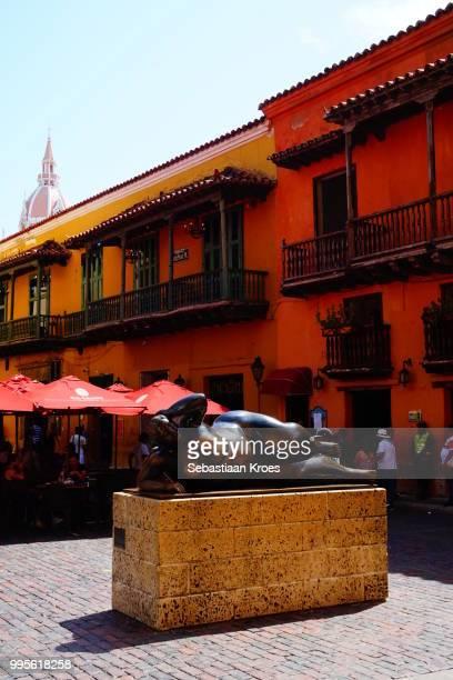 Plaza Santo Domingo Square with Botero Statue, Cartagena, Colombia