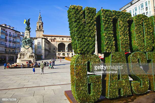 plaza virgen blanca square - vitoria spain stock pictures, royalty-free photos & images