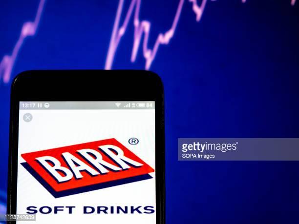 G BARR plc company logo seen displayed on a smart phone