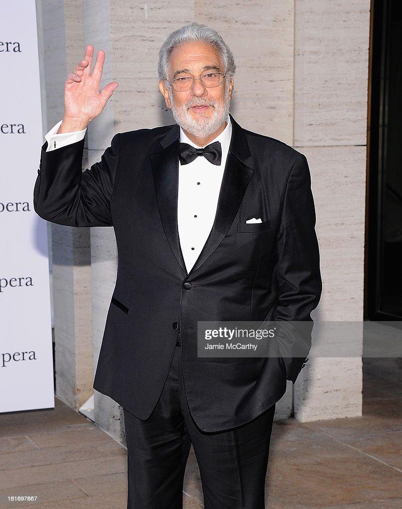 Plácido Domingo attends the Metropolitan Opera Season Opening Production Of 'Eugene Onegin' at The Metropolitan Opera House on September 23, 2013 in New York City.