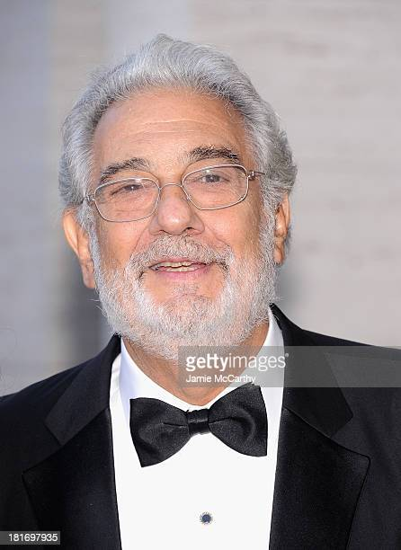 Plácido Domingo attends the Metropolitan Opera Season Opening Production Of Eugene Onegin at The Metropolitan Opera House on September 23 2013 in New...