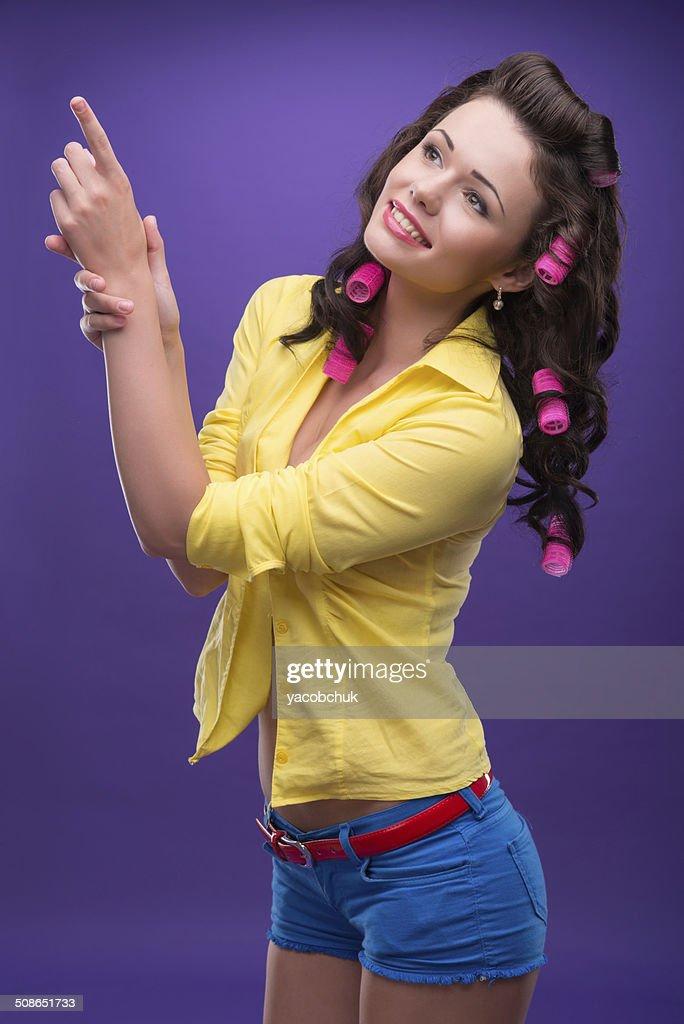 Pleasant housewife : Stock Photo