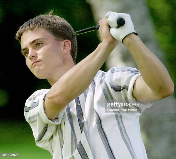 Please do NOT use my byline with this photo Staff Photo by John Ewing Friday July 13 2001 Corey Poulin led for much of the final round of the Maine...