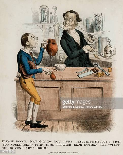 �Please docor Natomy do you cure haccidents cos I vish you vould mend this here pitcher else mother vill vollop me so ven I gets home� Coloured...