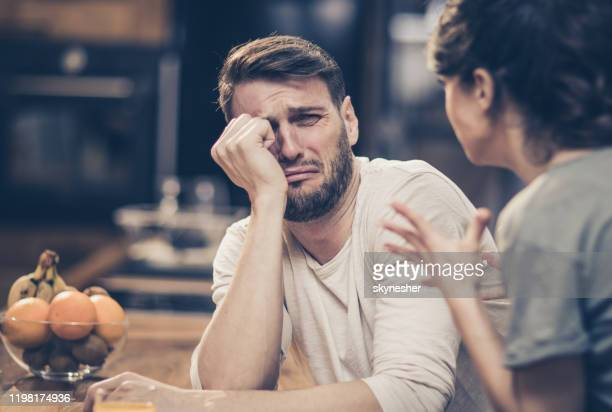 please, don yell at me! - couple breaking up stock pictures, royalty-free photos & images