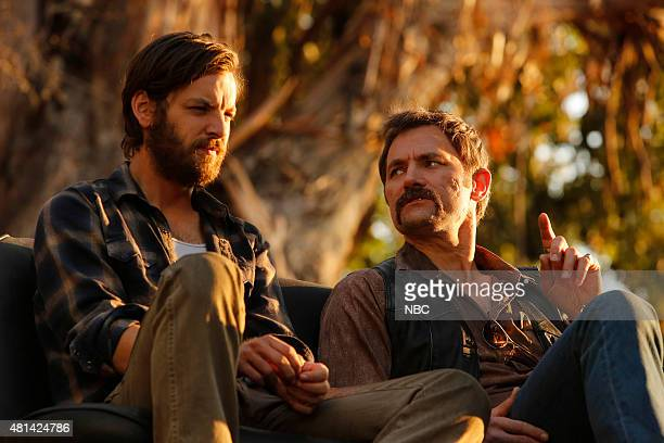 AQUARIUS Please Let Me Love You And It Won't Be Wrong Episode 112 Pictured Gethin Anthony as Charles Manson David Meunier as Roy Kovic