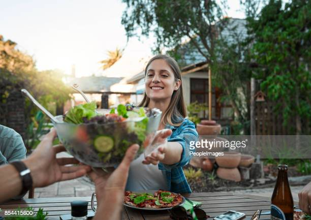 Gelieve te geven de salade