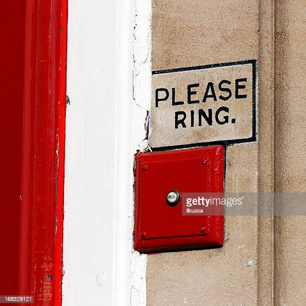 please ring bell - ringing doorbell stock pictures, royalty-free photos & images
