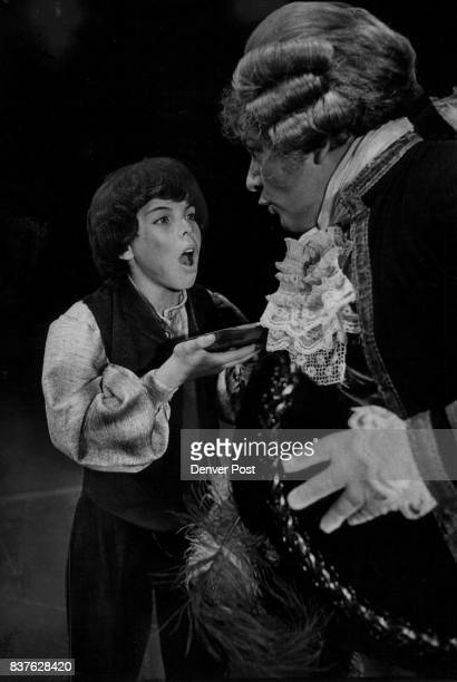 SEP 26 1977 OCT 11 1977 OCT 12 1977 'Please Sir I Want Some More' Mark Manassee as Oliver asks Paul Blount who portrays Mr Bumble for more gruel in a...
