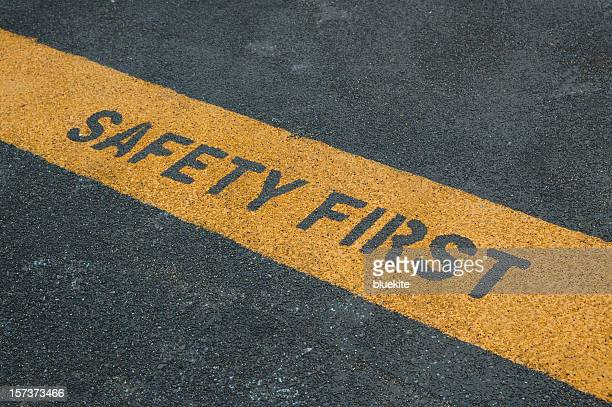 please stand behide the yellow line! - safety stock pictures, royalty-free photos & images
