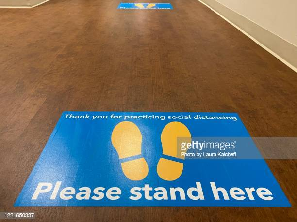 please stand here - distance marker stock pictures, royalty-free photos & images