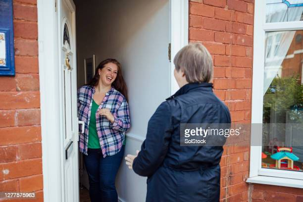 pleased to see you - doorway stock pictures, royalty-free photos & images