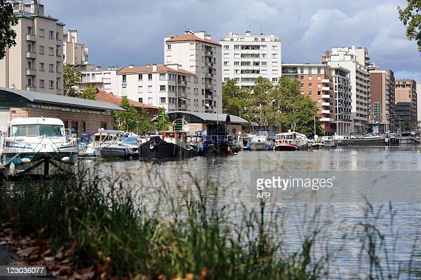 Pleasure boats are anchored on August 27 at the SaintSauveur port on the banks of the Canal du Midi in Toulouse southwestern France AFP PHOTO REMY...