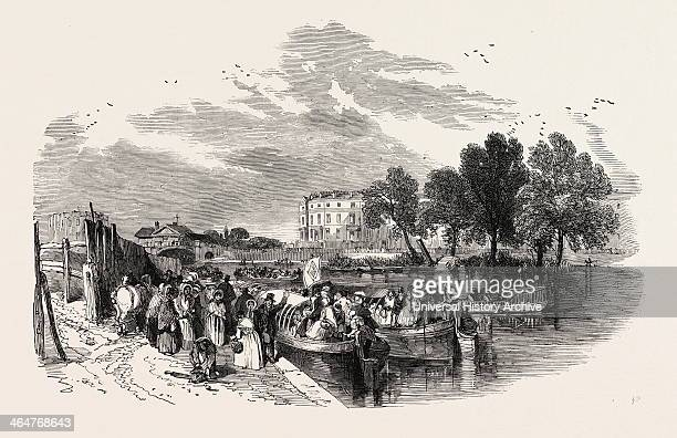 Pleasure Canal Boats Sketched At The Paddington Basin 1849