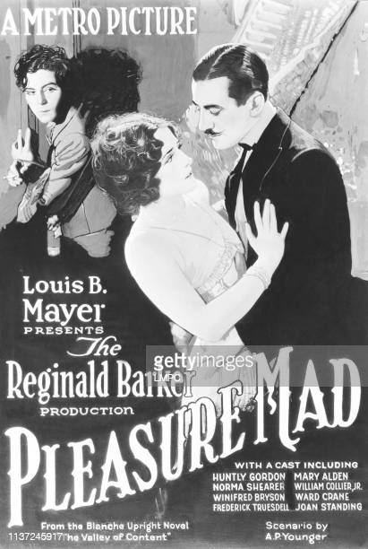 Pleasure Mad poster US poster from left William Collier Jr Norma Shearer Ward Crane 1923