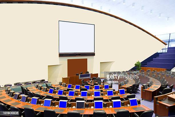 plenary room, council chamber - big mike stock pictures, royalty-free photos & images