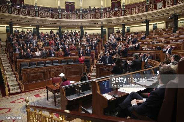 Plenary session at the Congress of Deputies to debate about the dialogue table between the Government and Cataluña Government on February 26 2020 in...