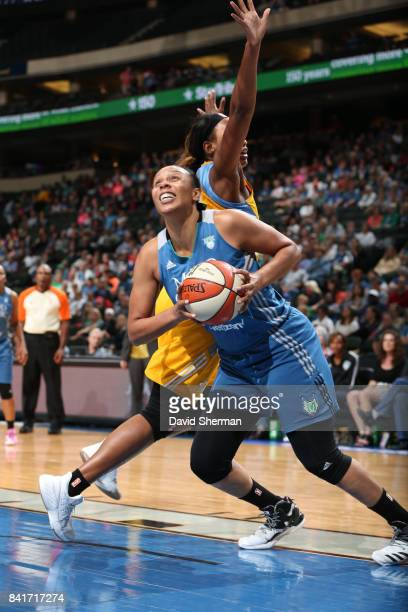 Plenette Pierson of the Minnesota Lynx handles the ball against the Chicago Sky on September 1 2017 at Xcel Energy Center in St Paul Minnesota NOTE...