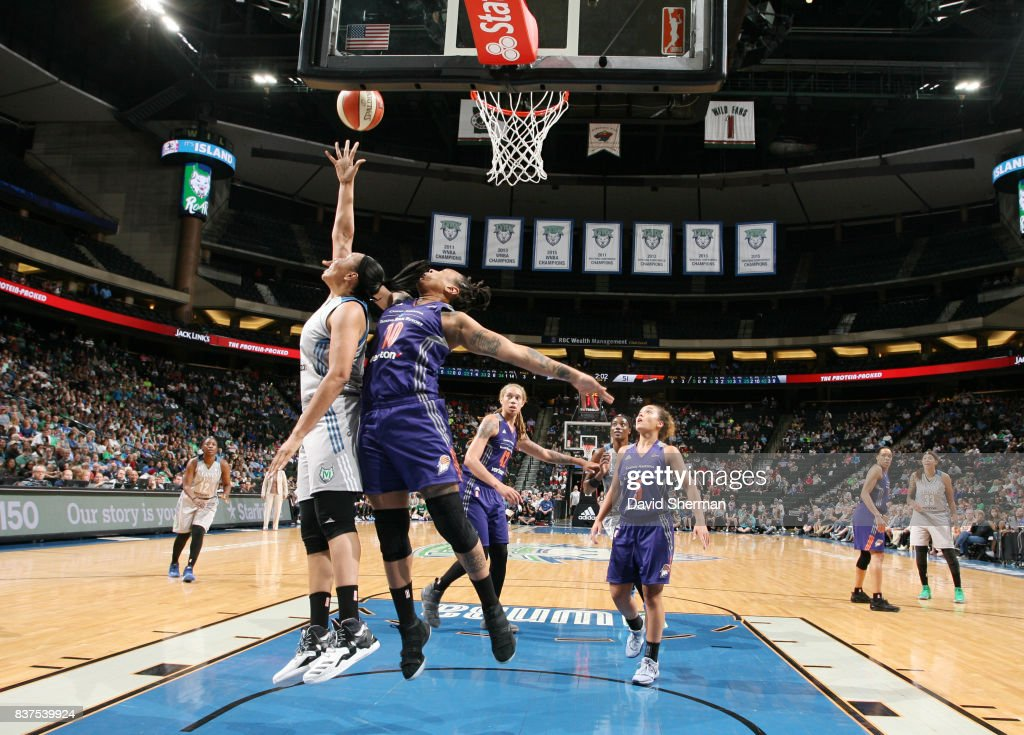 Plenette Pierson #22 of the Minnesota Lynx shoots the ball against the Phoenix Mercury on August 22, 2017 at Xcel Energy Center in St. Paul, Minnesota.