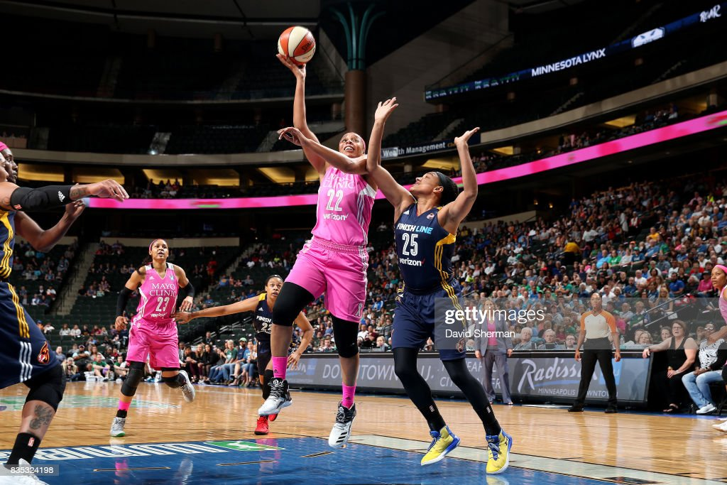 Plenette Pierson #22 of the Minnesota Lynx shoots the ball during the game against the Indiana Fever during the WNBA game on August 18, 2017 at Xcel Energy Center in St. Paul, Minnesota.