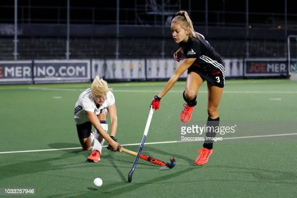 Pleun Lammers of Amsterdam Dames 1 during the Hoofdklasse Women match between Amsterdam v Pinoke at the Wagener Stadium on September 14 2018 in...