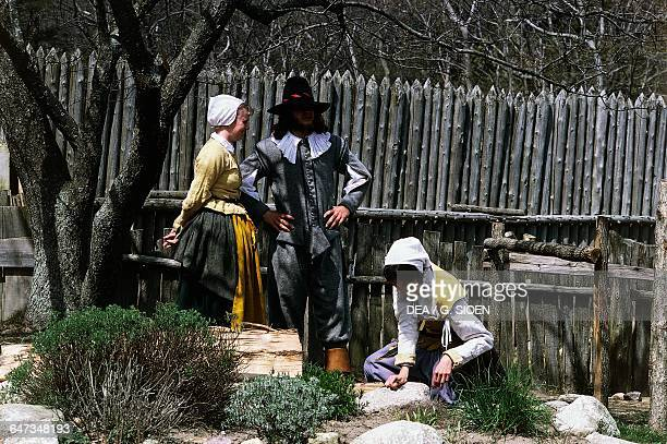 Plimoth Plantation openair museum Plymouth Massachusetts United States of America