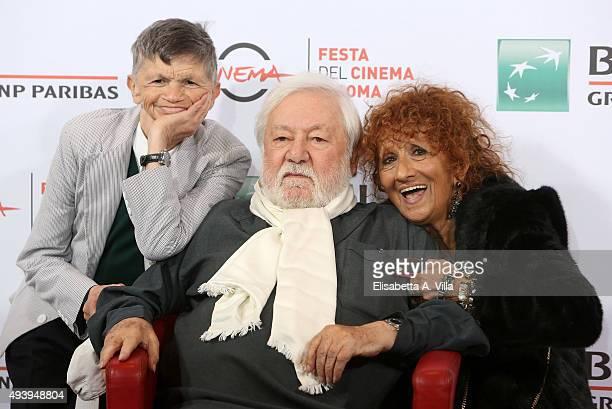 Plinio Fernando Paolo Villaggio and Anna Mazzamauro attend a photocall for 'Fantozzi' during the 10th Rome Film Fest at Auditorium Parco Della Musica...