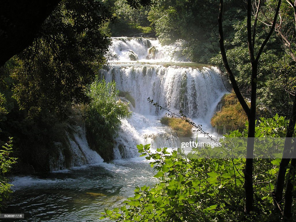 Plitvice lakes and waterfall in Croatia : Stock Photo