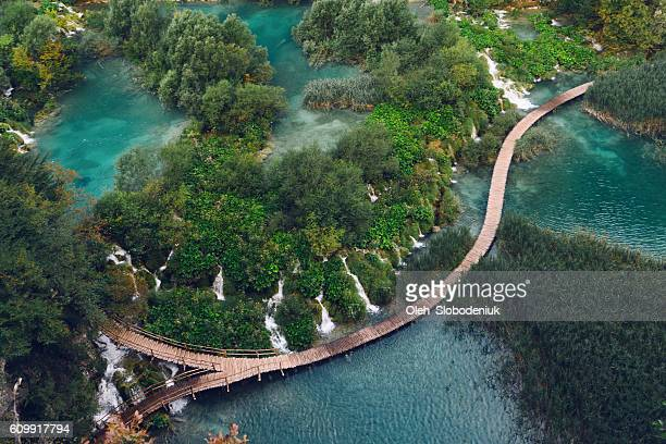 plitvice national park - croatia stock pictures, royalty-free photos & images