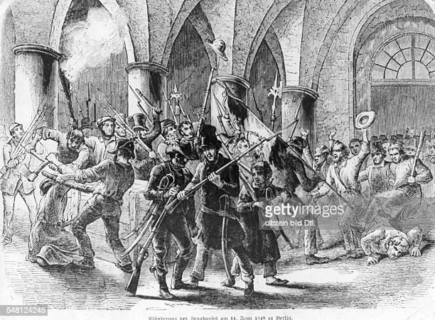 Plünderung des Zeughauses in Berlin 14061848