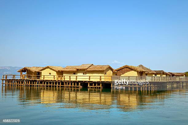 plocha mikov grad ohrid lake macedonia - lake ohrid stock photos and pictures