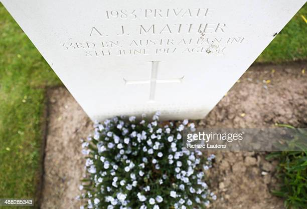 Ploegsteert Belgium May 2 Alan Mather was an Australian soldier of WW1 whose body was only found several years ago The Australian government took 2...