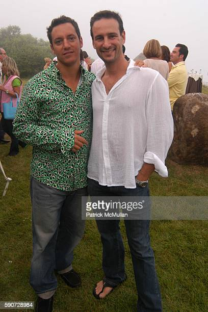 Ploini and David Schlachet attend Junko Yoshioka Presents Her Evening Wear Collection at Peter and Nejma Beard Residence on July 16 2005 in Montauk NY