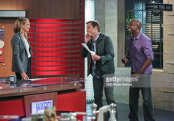 """Plot Twists """" Pictured Eliza Coupe as Janice Will Arnett as Nathan Miller and JB Smoove as Ray When Carol dictates that it's time to rearrange the..."""