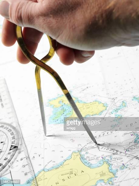 Plotting einen Kurs für Navigation