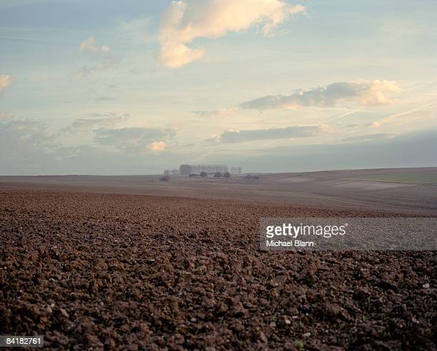 ploughed field, the somme, france - hauts de france stock photos and pictures